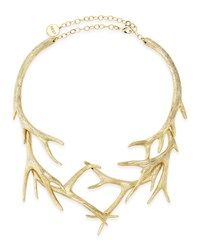 Gold Antler Collar Necklace Nest Jewelry