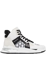 Balmain B Ball Monogram High Top Sneakers 60