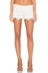 Nightcap Seashell Lace Short White