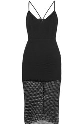 Mason By Michelle Mason Cutout Mesh Dress Black
