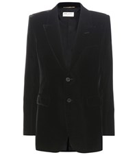Saint Laurent Velvet Jacket Black