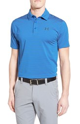 Men's Under Armour 'Playoff' Short Sleeve Polo Ultra Blue Stripe