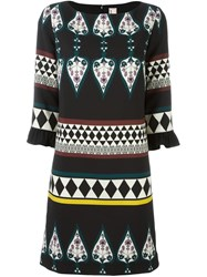 Antonio Marras Geometric Print Dress Black