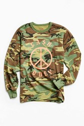 Division Of Labor Cash Only Long Sleeve Tee Green Multi