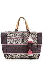 Star Mela Lexa Embroidered Jute Tote Gr. One Size