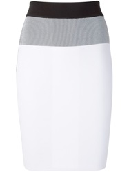 Narciso Rodriguez Panelled Skirt White