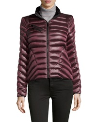 Dawn Levy Packable Short Puffer Jacket Ruby