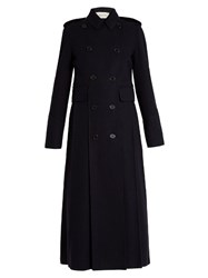 Valentino Martingale Back Double Breasted Coat Navy