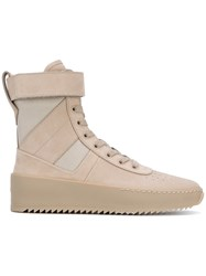 Fear Of God Military Sneaker Boots Women Calf Leather Leather Rubber 39 Nude Neutrals