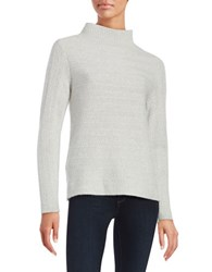 Lord And Taylor Textured Cashmere Sweater Light Grey Heather
