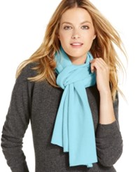 Charter Club Jersey Knit Cashmere Muffler Only At Macy's Clarion Blue