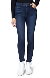 Sanctuary Social High Rise Raw Hem Skinny Ankle Jeans Stockholm Blue