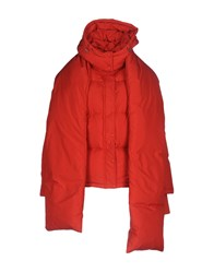 Weili Zheng Down Jackets Coral