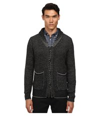 Billy Reid Shawl Cardigan Sweater Black Grey