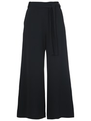French Connection Arrow Crepe Crop Trousers Black