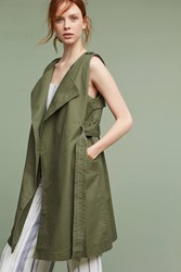 Anthropologie Military Trench Vest Moss