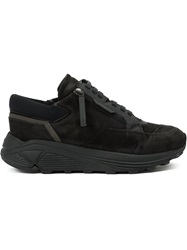 Bruno Bordese Wedged Lace Up Sneakers Black