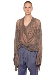 Vivienne Westwood Draped Sheer Linen And Silk Knit Sweater