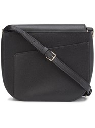 Valextra Hobo Shoulder Bag Black