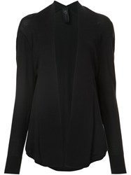 Zero Maria Cornejo Draped Cardigan Black