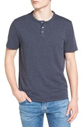 Original Penguin Men's Bing Slim Fit Henley T Shirt Dark Sapphire