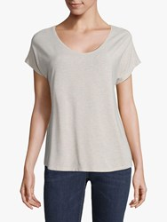 Betty And Co. Co Scoop Neck T Shirt Natural Melange