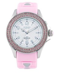 Kyboe Radiant Whimsy Stainless Steel Analog Strap Watch Pink