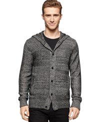 Calvin Klein Jeans Contrast Knit Hooded Cardigan