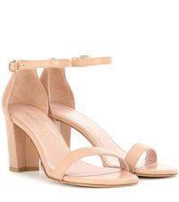 Stuart Weitzman Nearlynude Leather Sandals Neutrals