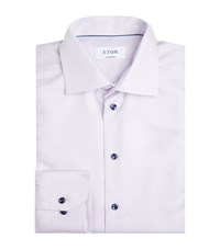 Eton Contrast Button Contemporary Fit Shirt Male Pink