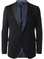 Etro Shawl Collar Blazer Black