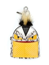 Fendi Monster Backpack Charm White