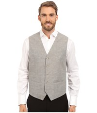 Perry Ellis Linen Cotton End On End Suit Vest Alloy Men's Vest Gray