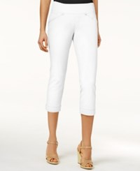 Jag Petite Marion Pull On Skinny Colored Cropped Jeans White