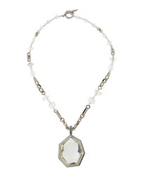 Stephen Dweck Galactic Rock Crystal Pendant Necklace Women's