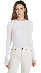 Enza Costa Thermal Crew Top White