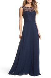Hayley Paige Occasions Lace And Chiffon A Line Gown