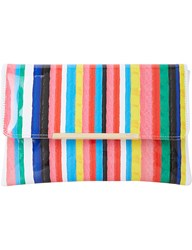 Dune Stripe Print Clutch Bag Multi Synthetic