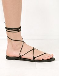 Pixie Market Black Lace Up Gladiator Sandals
