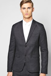 Boohoo Fit Suit Jacket Charcoal