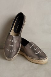 Anthropologie South Parade Fiesta And Siesta Espadrilles Silver