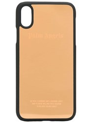 Palm Angels Logo Print Iphone Xr Case Gold