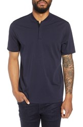 Calibrate Trim Fit Henley T Shirt Navy Night