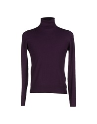 Gran Sasso Turtlenecks Dark Purple