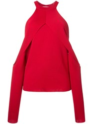 Dion Lee Sleeve Release Evening Blouse Red