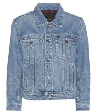 Helmut Lang Shrunken Denim Jacket Blue