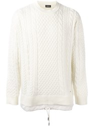 Diesel Cable Knit Jumper Nude Neutrals