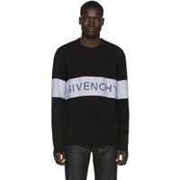 Givenchy Black And White Wool Contrasting Stripe Sweater