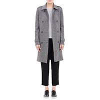 Boiled Virgin Wool Trench Coat Gray