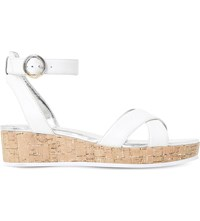 Dune Kalipo Cross Strap Flatform Sandals White Leather